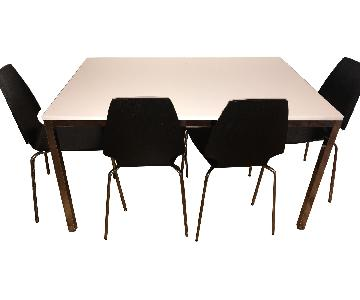 Ikea Torsby Dining Table w/ 4 Leifarne Chairs