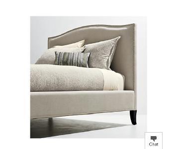 Crate & Barrel Colette Natural Upholstered King Size Bed