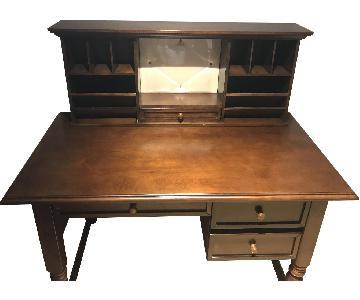 Bob's Brown Wood Office Desk w/ Hutch