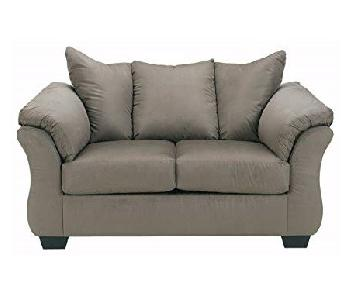 Ashley Darcy Loveseat in Cobblestone