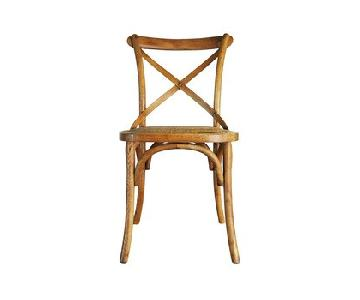 Zuo Bistro Style Cross Back Dining Chairs