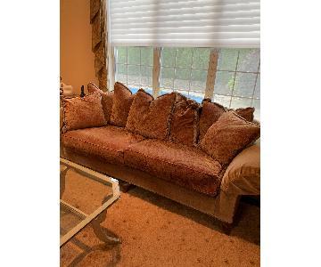 Tan Fabric Sofa