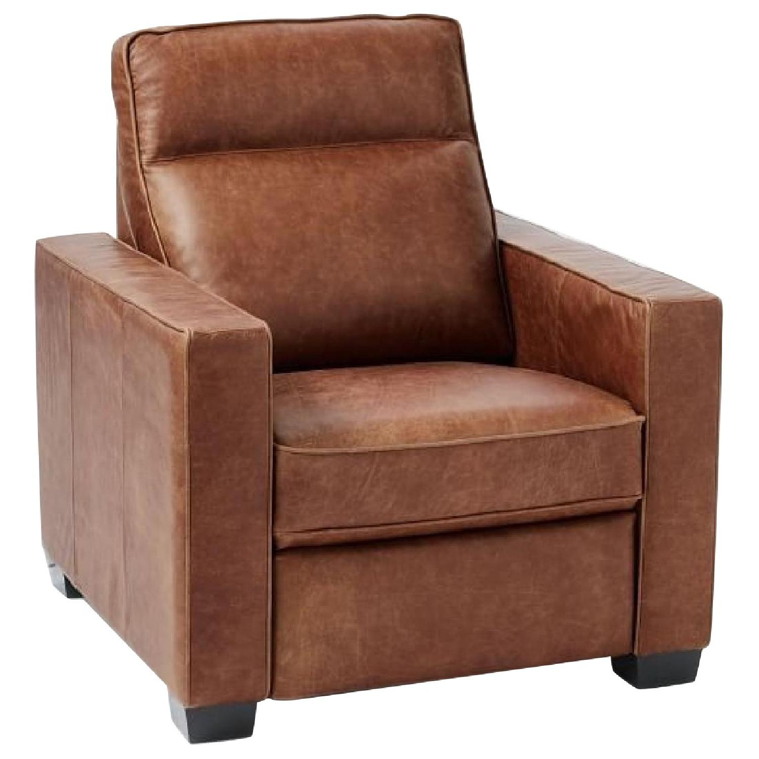 West Elm Henry Leather Power Recliner