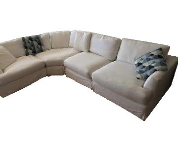 ABC Carpet and Home White Sectional Sofa