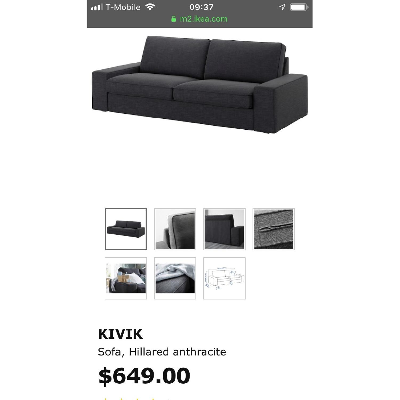 Remarkable Ikea Kivik Sofa In Dark Gray Aptdeco Evergreenethics Interior Chair Design Evergreenethicsorg