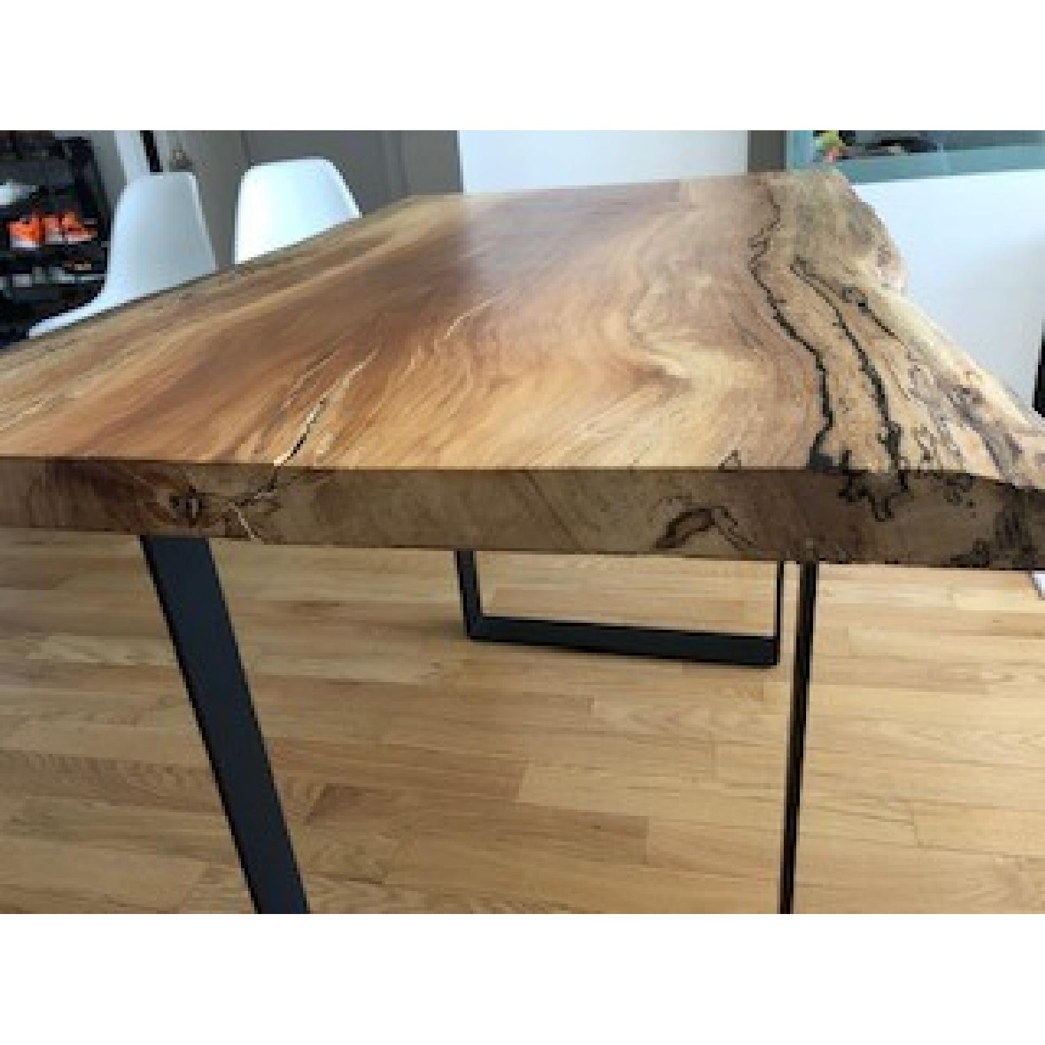 Custom Made Live Edge Wooden Table