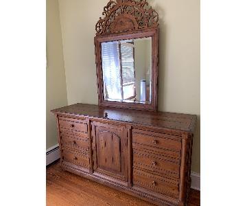 Ethan Allen Wood Dresser w/ Mirror