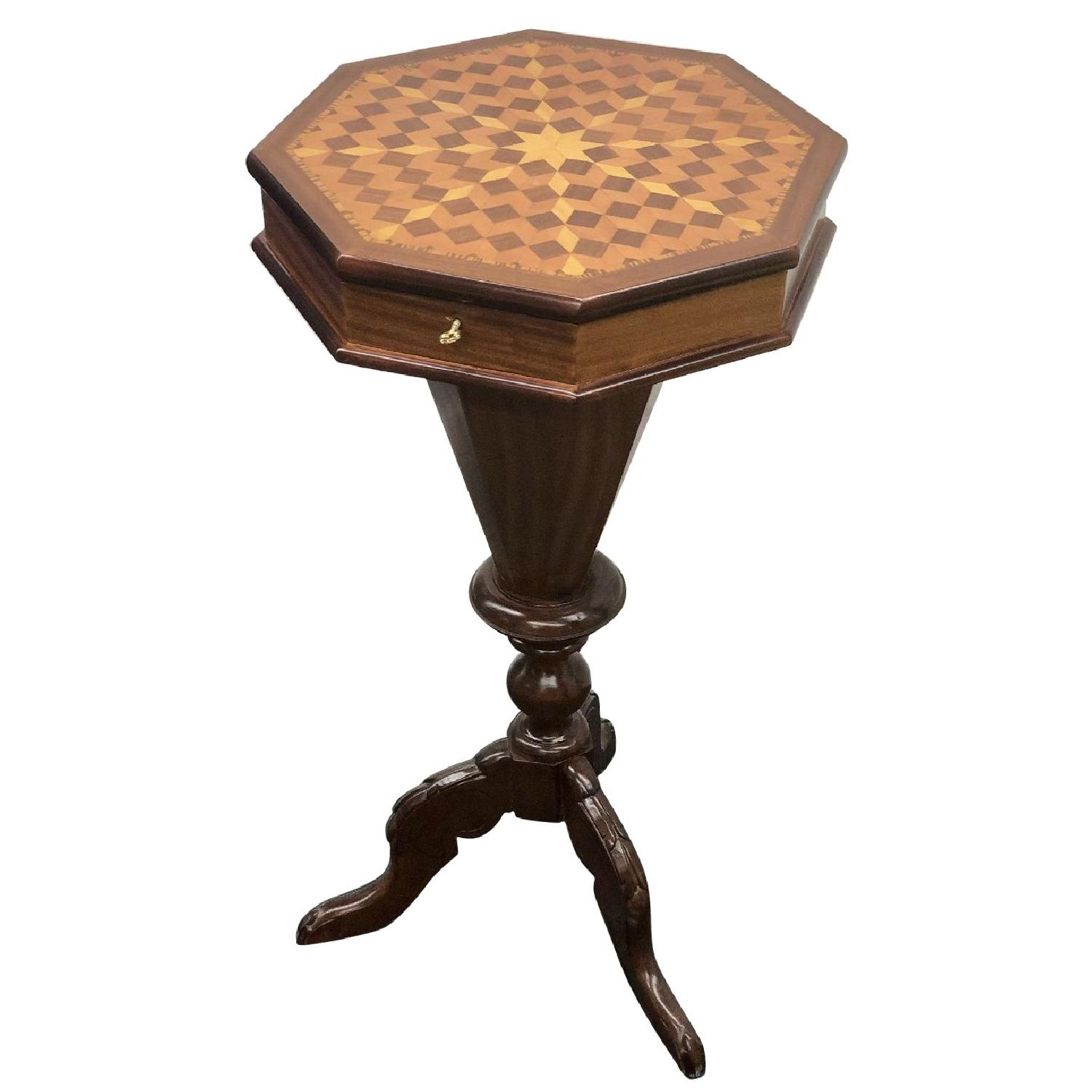 Reproduction Victorian Side Sewing Table