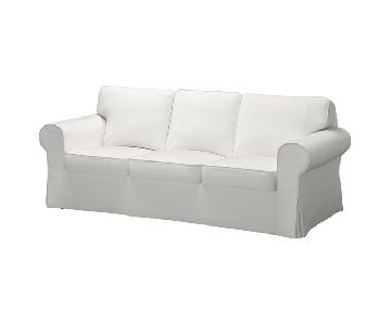 Ikea Ektorp White 3 Seater Sofa
