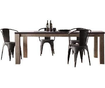Restoration Hardware Railroad Tie Parsons Dining Table