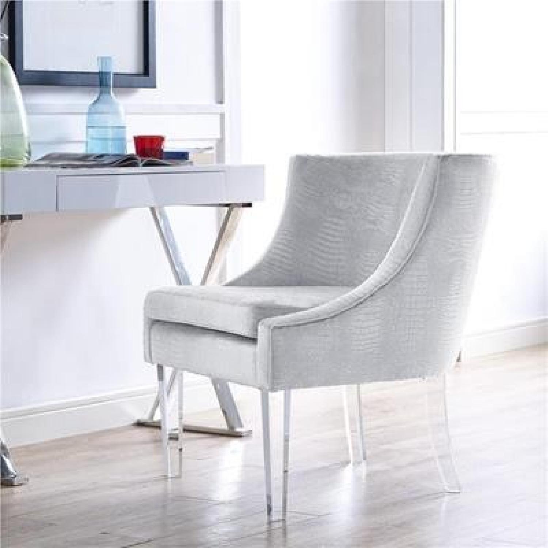 Tov Furniture Myra Silver Croc Chair
