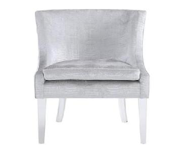 Tov Furniture Myra Silver Croc Chair