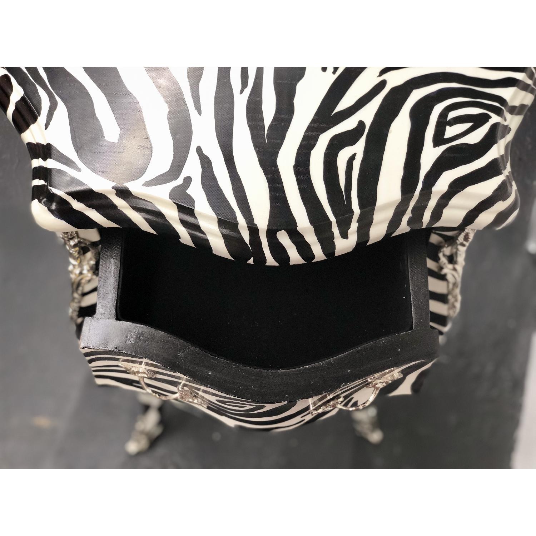 Zebra Print Side Table