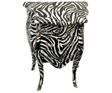 Zebra Print Side Table