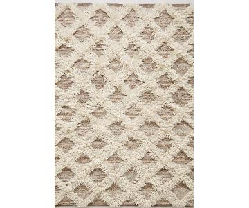 Anthropologie Lattice Flokati Rug
