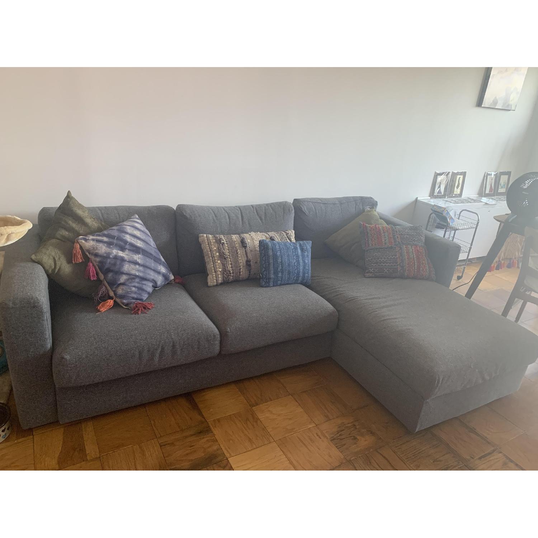Ikea Vimle Grey Sectional Sofa - AptDeco