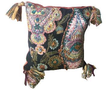 World Market Woven Print Boho Pillows w/ Tassels