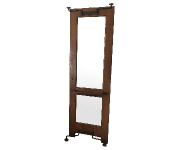 Large Industrial Standing Mirror