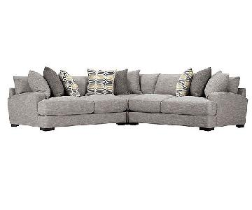 Raymour & Flanigan Leighton 3-Piece Sectional Sofa
