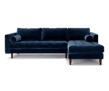 Article Sven Velvet Sectional Sofa