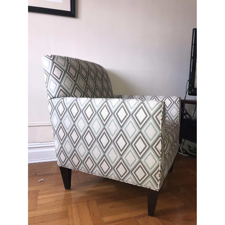 Rowe Furniture Geometric Patterned Armchair Aptdeco