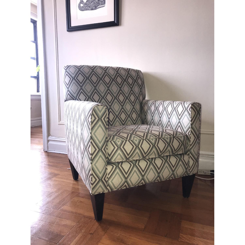 Groovy Rowe Furniture Geometric Patterned Armchair Aptdeco Inzonedesignstudio Interior Chair Design Inzonedesignstudiocom