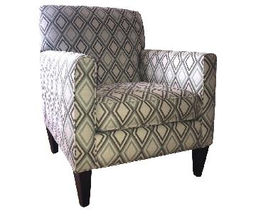 Rowe Furniture Geometric Patterned Armchair