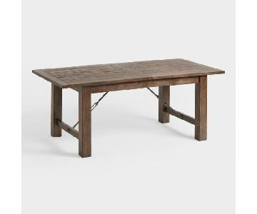 World Market Extension Table w/ 5 Chairs