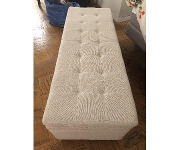 Christopher Knight Home Brighton Ivory/Beige Storage Ottoman