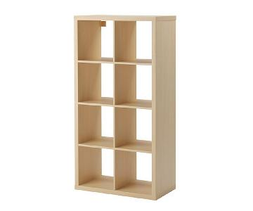 Ikea Birch Kallax Shelf Unit w/ Drawers