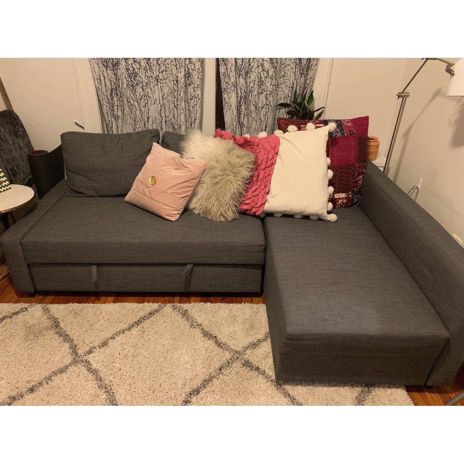 Pleasant Ikea Friheten Sleeper Sectional Sofa W Storage Aptdeco Machost Co Dining Chair Design Ideas Machostcouk