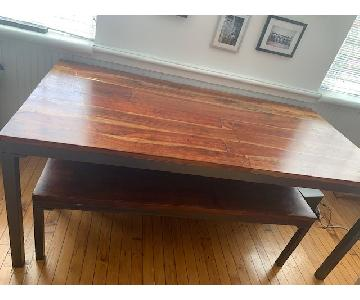 Home Decorators Dining Table w/ 2 Benches