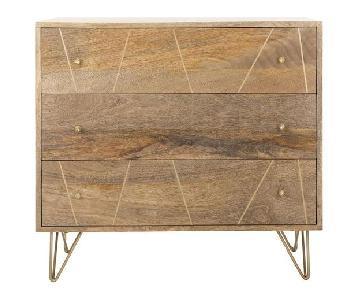 Mercury Row Brass Inlay Wood Dresser