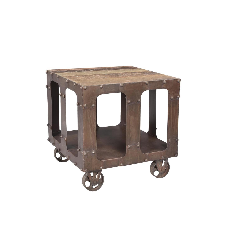 Designe Gallerie Karel End Table w/ Wooden Top