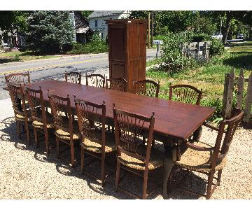 French Country Furnishings 13-Piece Dining Set