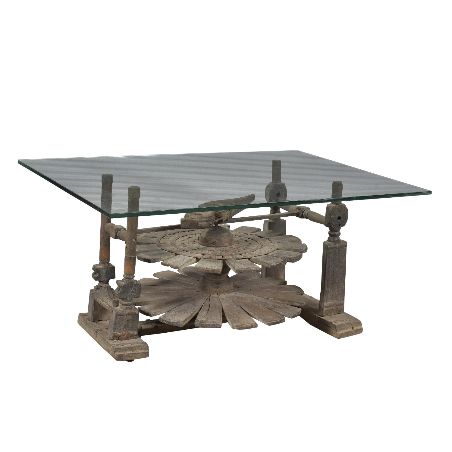 Designe Gallerie Charkha Wooden Coffee Table