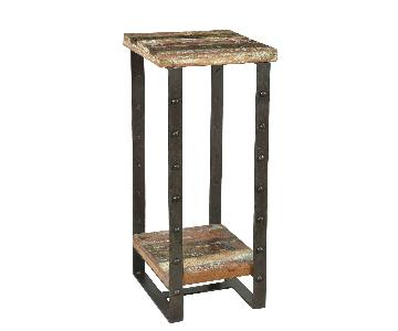 Designe Gallerie Telfer Metal Wood Side Table