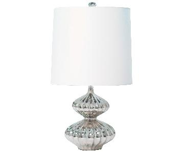 Jonathan Adler Platinum Nelson Minor Table Lamps
