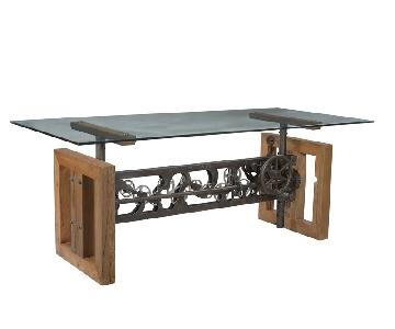 Designe Gallerie Beal Dining Table w/ Glass Top