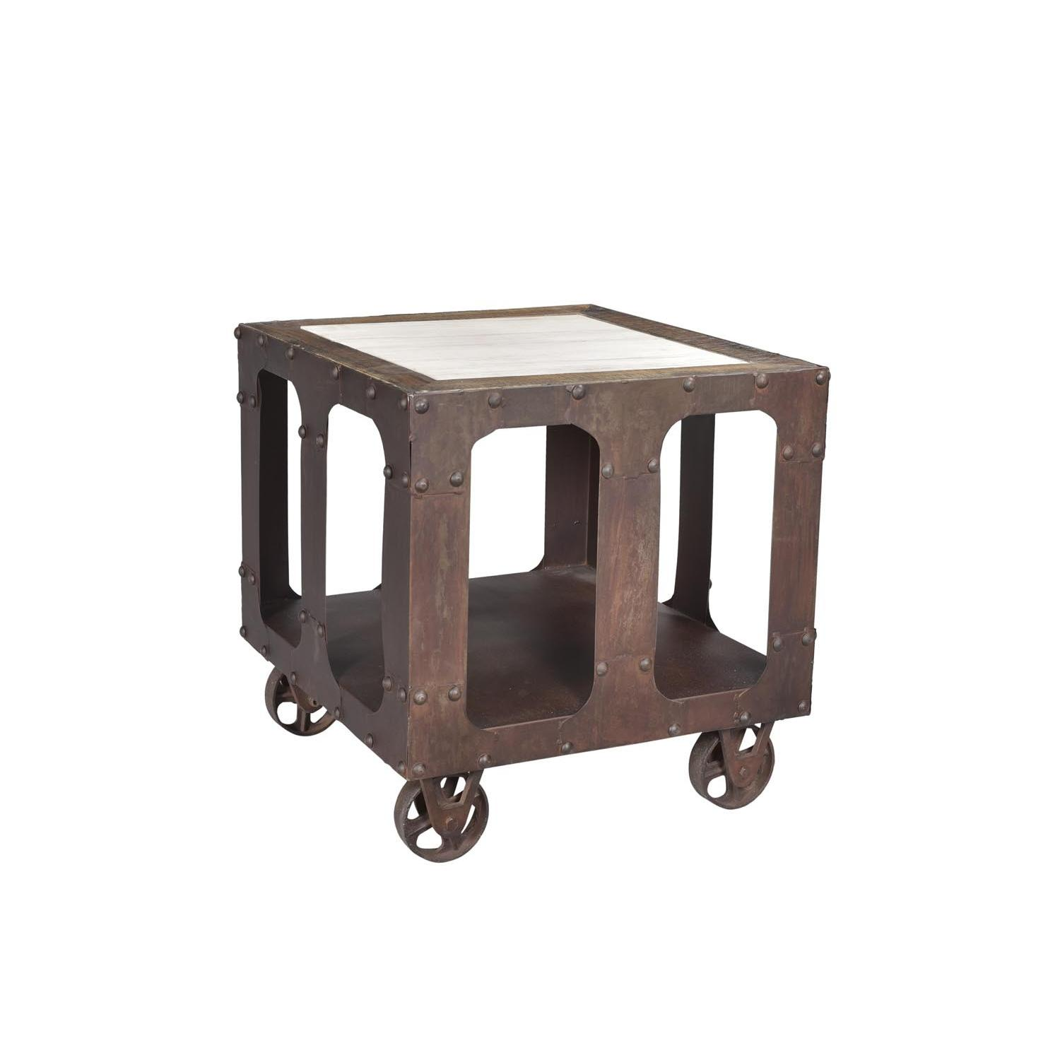 Designe Gallerie Karlis End Table w/ Marble Top