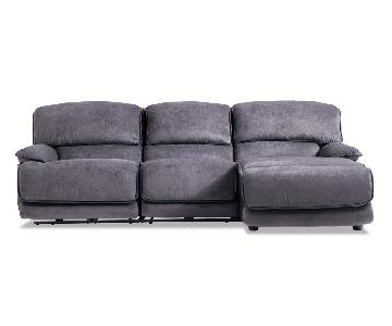 Bob's Dawson Electric Recliner Sectional Sofa w/ USB Ports