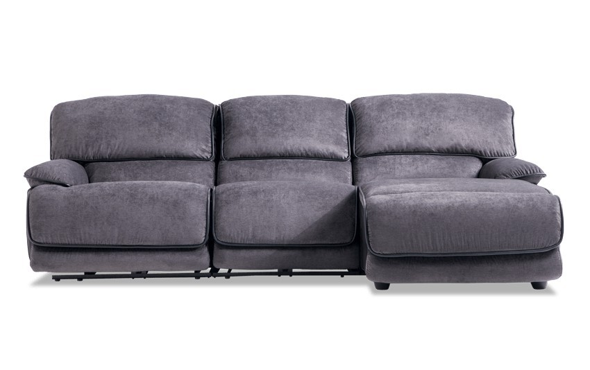 Incredible Bobs Dawson Electric Recliner Sectional Sofa W Usb Ports Dailytribune Chair Design For Home Dailytribuneorg