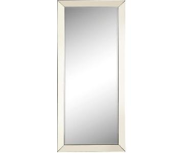 Contemporary Full Body Floor Mirror w/ Mirrored Frame