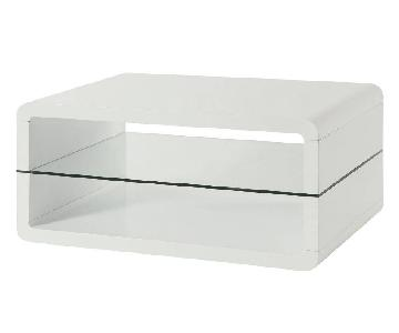 Coaster Modern Glossy White Coffee Table
