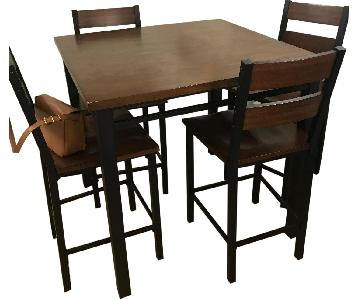 Brown Top High Top Dining Table w/ Black Legs
