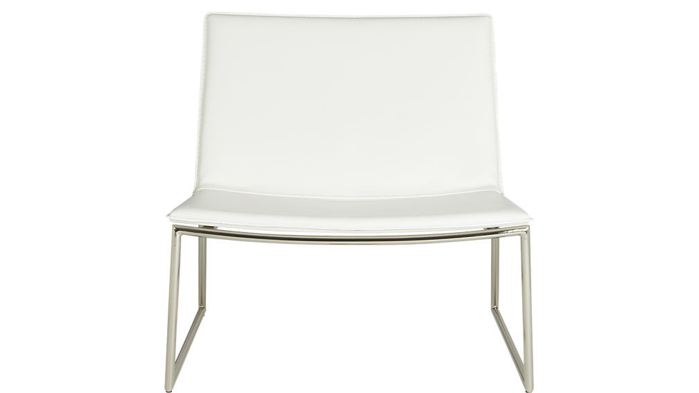 CB2 Modern White Accent Chair