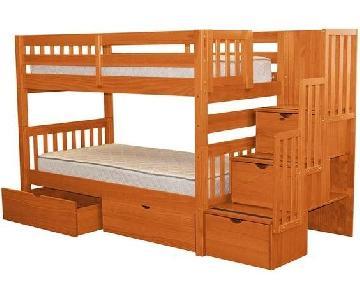 Ashley Loft Bunk Bed w/ Storage & Stairs