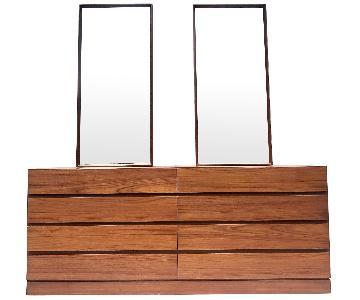 Vintage Modern Danish Teak Dresser w/ Mirror