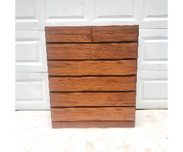 Danish Modern Teak Highboy Dresser