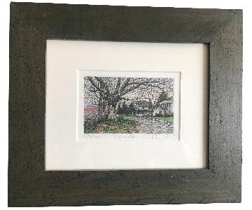 Framed November Etching